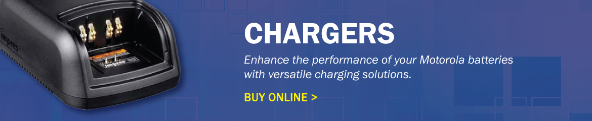 Chargers - Enhance the performance of your Motorola batteries with versatile charging solutions. Buy Online