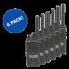 6 PACK EX-RENTAL MOTOROLA DIGITAL DP2600e SERIES RADIOS